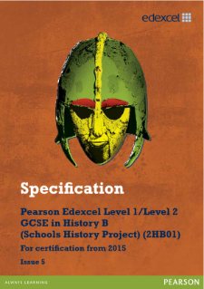 Edexcel GCSE History B 2013 specification