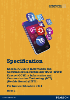 Edexcel GCSE ICT 2010 specification