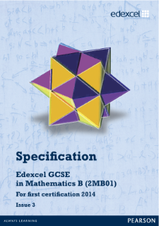 Edexcel GCSE Mathematics 2012 specification