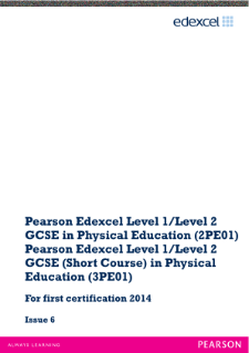 Edexcel GCSE Physical Education 2012 specification