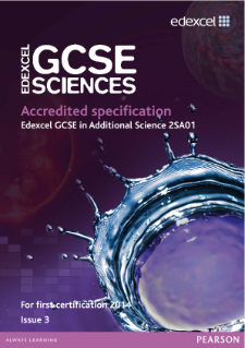 Edexcel GCSE Additional Science 2011 specification