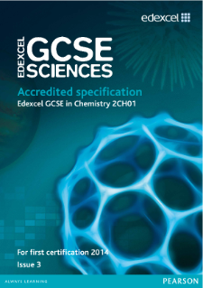 Edexcel GCSE Chemistry 2011 specification