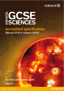 Edexcel GCSE Science 2011 specification
