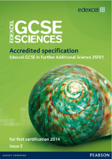 Edexcel GCSE Further Additional Science 2011 specification