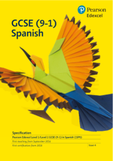 GCSE Spanish 2016 specification