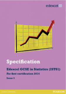 Edexcel GCSE Statistics 2012 specification