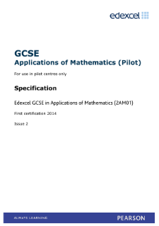 Applications of Mathematics specification