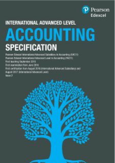 Pearson International Advanced Level Accounting Specification