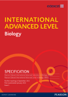International Advanced Level Biology Specification