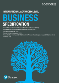 International A Level Business Specification