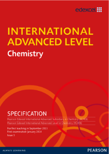 Edexcel International Advanced Level Chemistry | Pearson qualifications