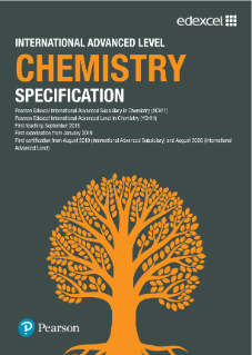 Edexcel International Advanced Level Chemistry (2018