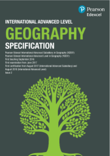 International Advanced Level Geography (2016) Specification