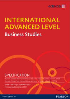 International Advanced Level Business Studies