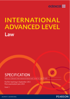 International Advanced Level Law