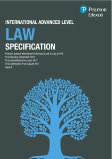 International Advanced Level Law specification
