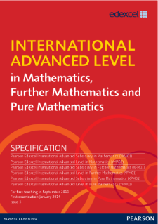 edexcel international advanced level mathematics pearson