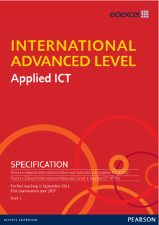 International Advanced Level Applied ICT (2016) Specification