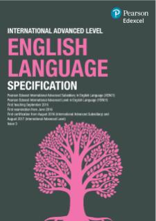 Edexcel International Advanced Level English Language