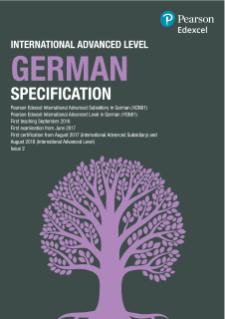 Edexcel International Advanced Level German (2016)   Pearson