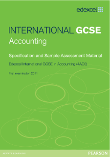 Edexcel International GCSE Accounting 2009 specification