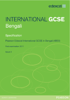 Edexcel International GCSE Bengali 2009 Specification
