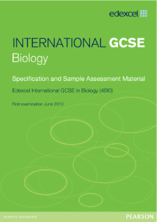 Edexcel International GCSE Biology 2011 specification