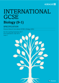 Edexcel International GCSE Biology 2017 Specification