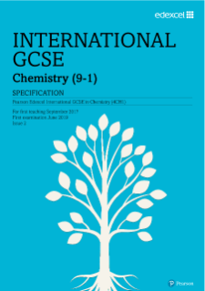 Pearson Edexcel International GCSE Chemistry 2017 specification