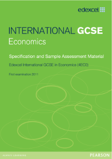 Edexcel International GCSE Economics 2009 specification