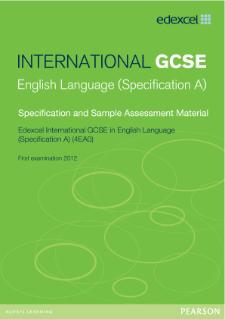 Edexcel international gcse english language a pearson qualifications edexcel international gcse english language a 2011 specification fandeluxe Gallery