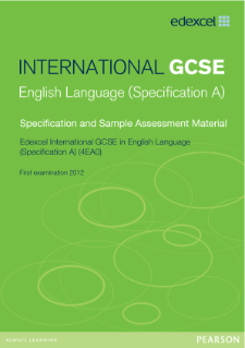 Edexcel International GCSE English Language A 2011 specification