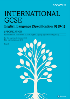 Pearson Edexcel International GCSE English B specification