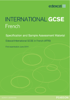 Edexcel International GCSE French 2011 specification