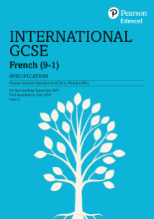 Edexcel International GCSE French 2017 specification