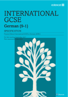 Edexcel International GCSE German 2017 draft specification