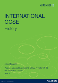Edexcel International GCSE History 2011 specification