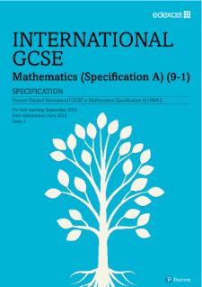 Edexcel International GCSE Mathematics A (2016) | Pearson