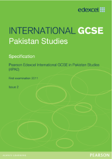 Edexcel International GCSE Pakistan Studies 2009 specification
