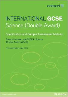 edexcel international gcse science double award pearson