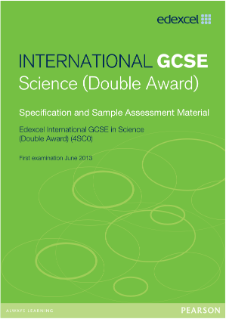 Edexcel International GCSE Science 2011 specification