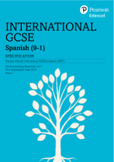 Specification - International GCSE in Spanish