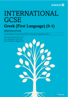 International GCSE in Greek First Language 9-1: Qualification Overview