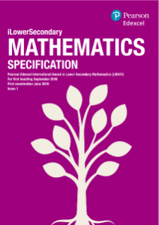Pearson Edexcel International Award in Lower Secondary Mathematics specification