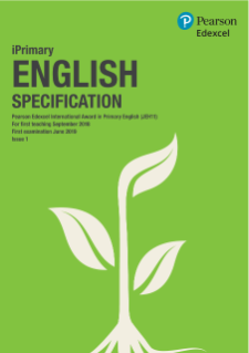 Pearson Edexcel International Award in Primary English specification