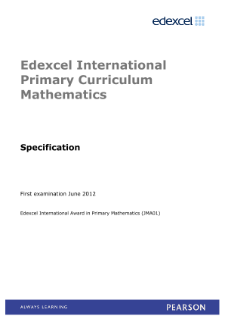 international primary curriculum mathematics pearson qualifications