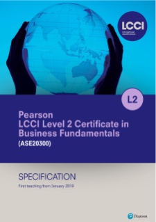 Pearson LCCI Level 2 Certificate in Business Fundamentals