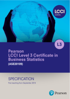 LCCI Level 3 Certificate in Business Statistics Specification