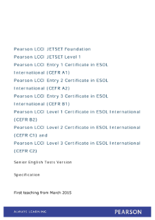 Pearson EDI JETSET ESOL specification