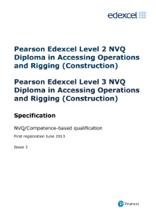 NVQ Diploma in Accessing Operations and Rigging (Construction) specification